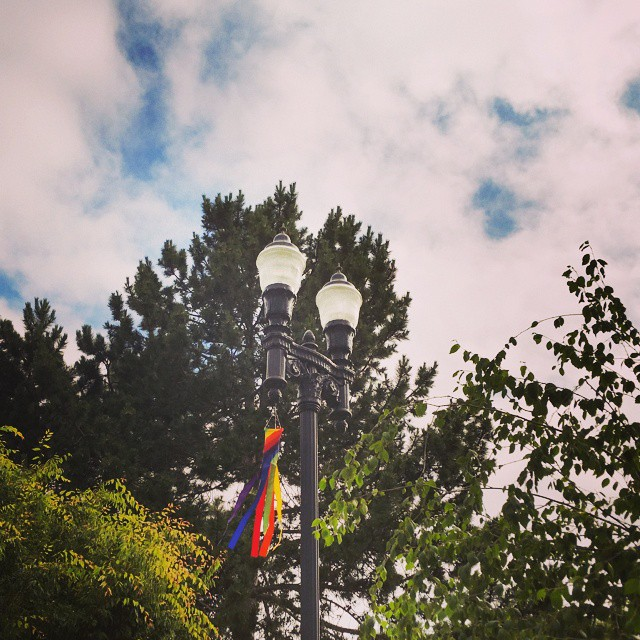 Look UP! Tacoma Pride Festivals Circlets of Joy are beinghellip