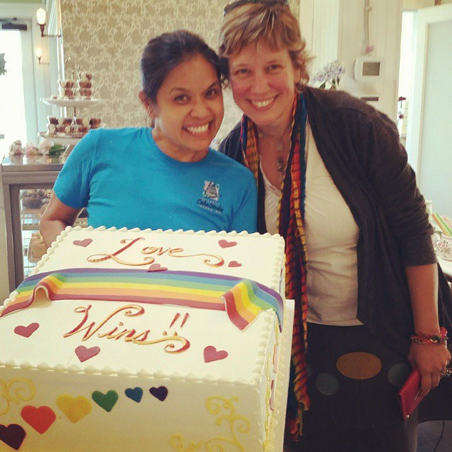 Rainbow Center executive director Michelle Douglas and Odette from Celebrityhellip
