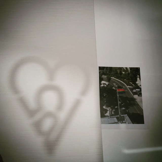 Shadow play! Look at how our 253Heart Rainbow sticker reflectshellip