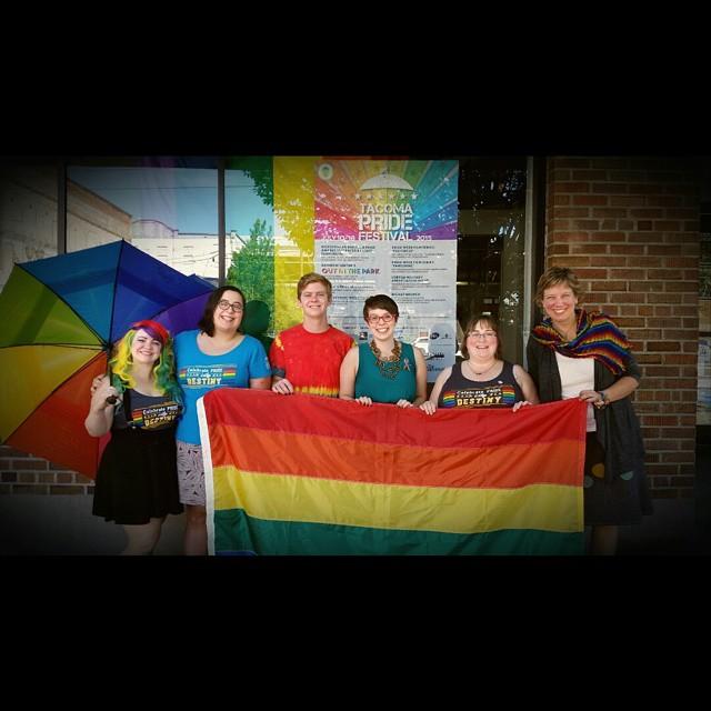 lovewins Happy Pride!  victory LGBTQ TPF2015 Rainbow Center Staffhellip