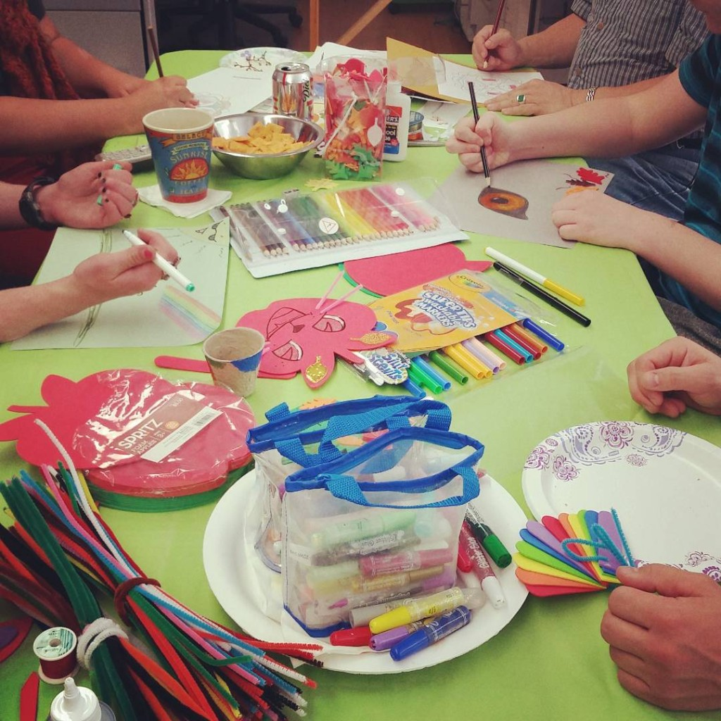 Stop by for crafts tonight until 6p at the Rainbowhellip