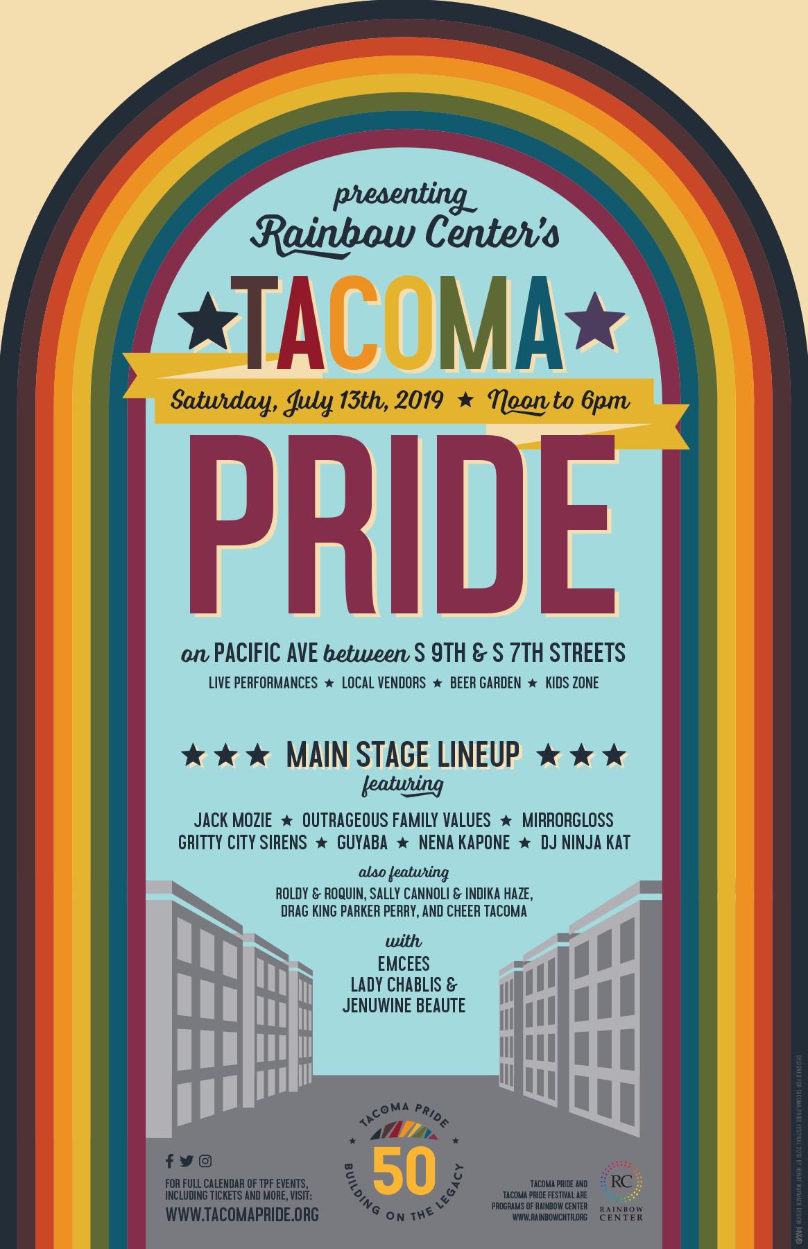 Pride Month Calendar 2019.Tacoma Pride 2019 Tacoma Pride Festival